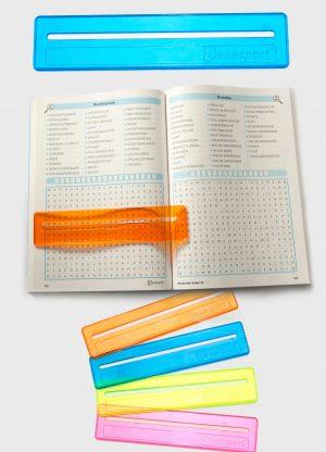 Woordzoeker liniaal blauw - editie 1