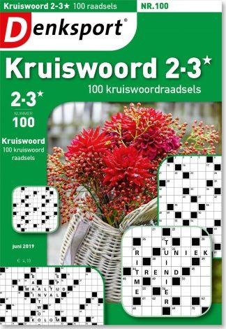 Kruiswoord 2-3* 100 raadsels - editie 100